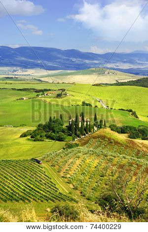 beautiful idyllic  landscapes of Tuscany. Italy