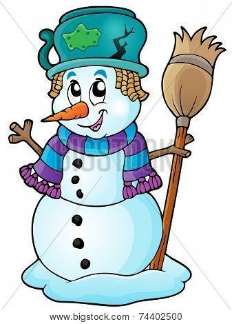 Winter snowman theme image 6 - eps10 vector illustration.