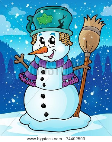 Winter snowman theme image 7 - eps10 vector illustration.