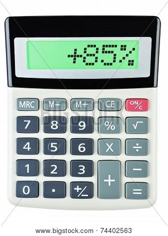 Calculator With 85 On Display On White