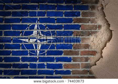 Dark Brick Wall With Plaster - Nato