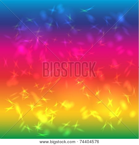Abstract Background Bright Saturated. Rainbow. Glare.