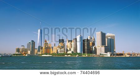 Manhattan On A Sunny Day.