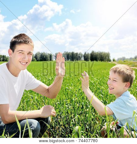 Brothers At The Field