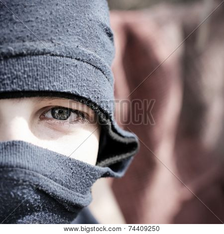 Teenager In Balaclava