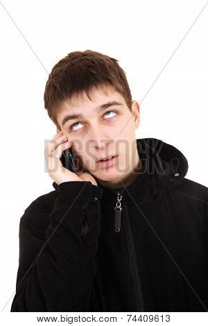 Annoyed Teenager With Cellphone