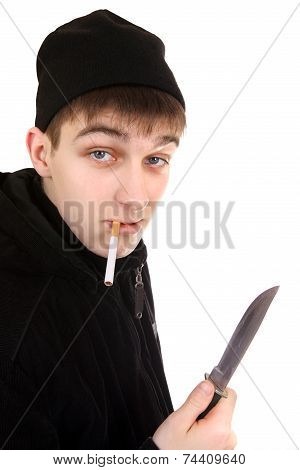 Teenager With The Knife