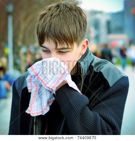 Sick Teenager On The Street