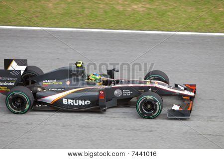 Senna at the Malaysian F1