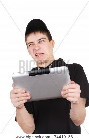 Annoyed Teenager With Tablet
