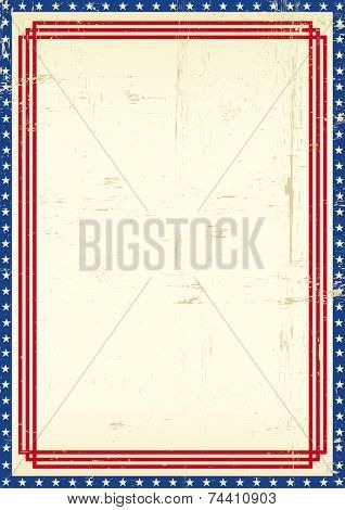 Dirty American frame. A grunge greeting poster of America for you