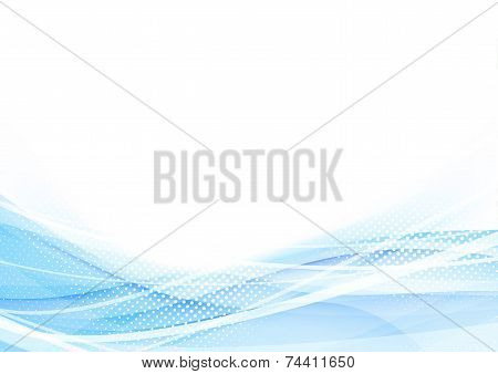 Abstract Swoosh Waves Dotted Hi-tech Background