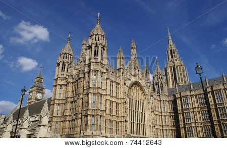 Palace of Westminster, Big Ben, London, England