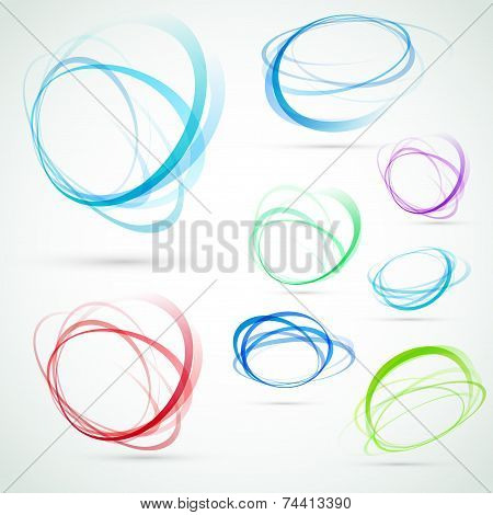 Swirl Swoosh Abstract Tornado Elements Set