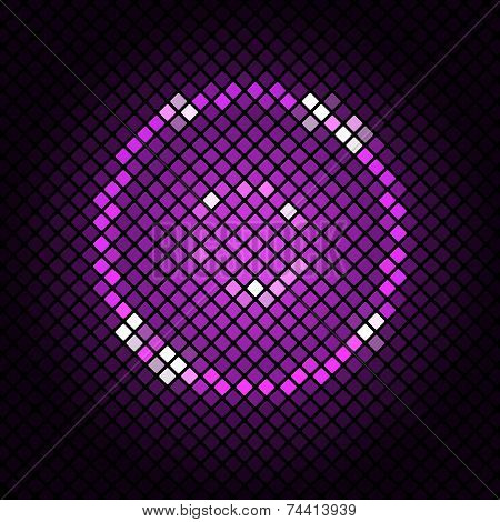 Abstract Mosaic With Violet Background