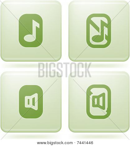 Olivine Square 2D Icons Set: Phone display