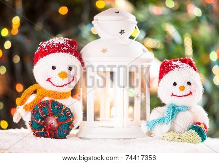 Knitted Snowmen