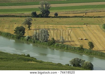Tiber Valley Near Rome