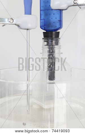 Magnetic Stirrer With Thermostat Sensor Detail And Bottle