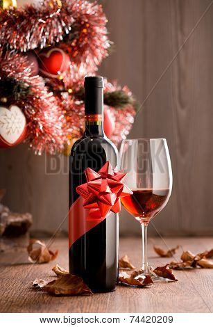 Wine Tasting With Christmas Tree