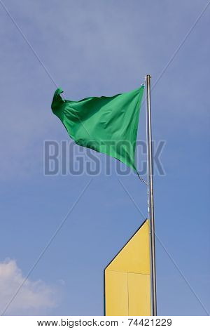 Triangular Green Flag.