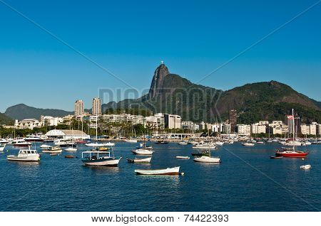 Rio de Janeiro with Corcovado Mountain and Christ the Redeemer