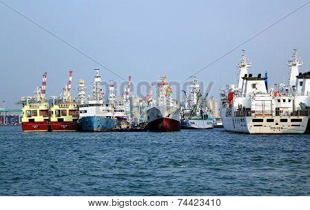 Local Shipyard At Kaohsiung Harbor