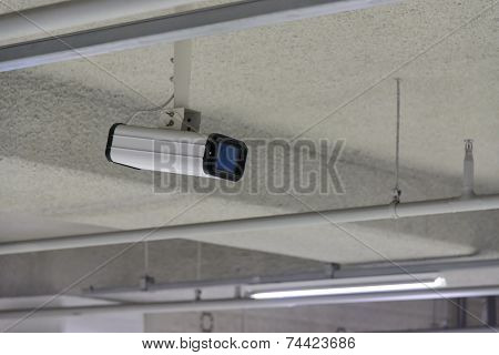 Cctv Camera On The Ceiling