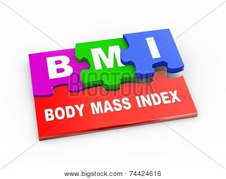 3D Bmi Puzzle Piece Illustration