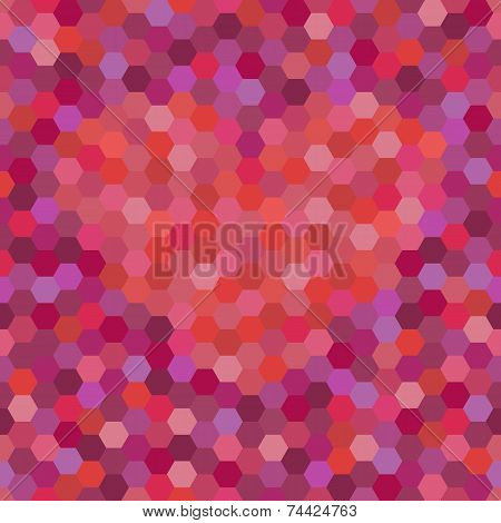Seamless background with mosaic heart