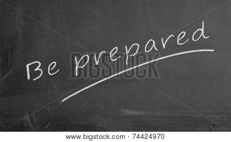 Chalkboard Be Prepared Illustration