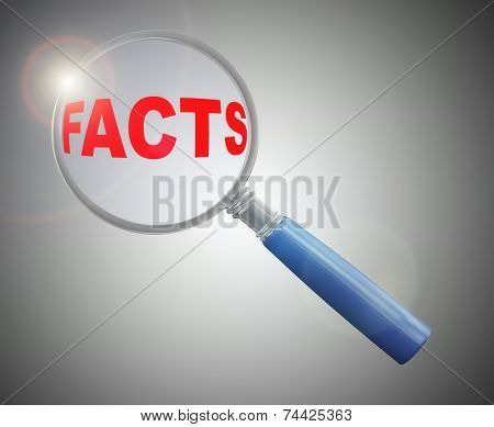 3D Magnifier Over Word Facts