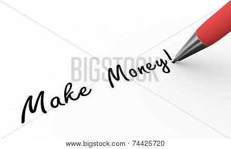 3D Pen Writing Make Money Illustration
