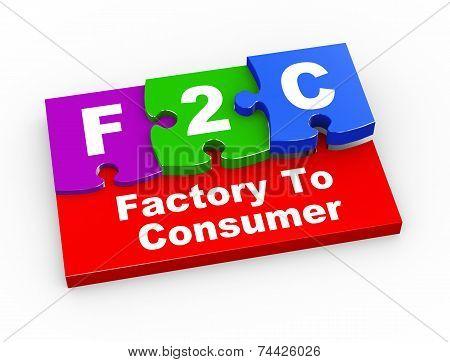 3D F2C Puzzle Pieces Illustration