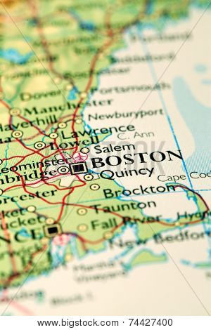 Boston City On Map