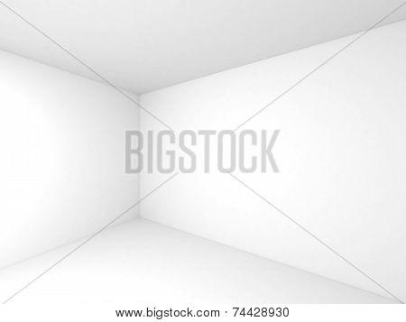 Empty White 3D Room Interior Background
