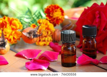 essential oils with rose