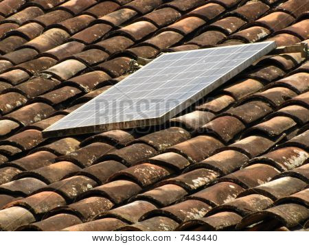 solar panel rural tile roof
