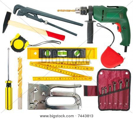 Set Of Work Tools