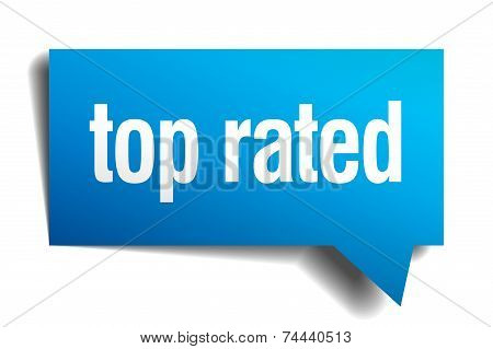 Top Rated Blue 3D Realistic Paper Speech Bubble