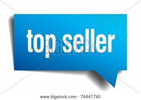 Top Seller Blue 3D Realistic Paper Speech Bubble