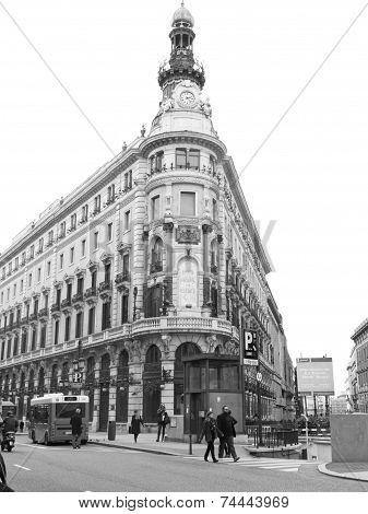 Gran Via Of Madrid. Spain