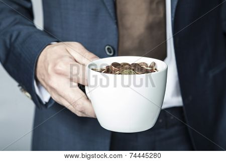 Cup Of Small Coins