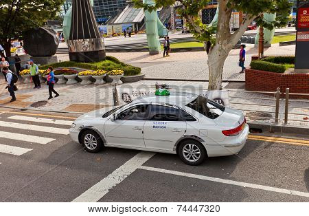 Taxicab In Busan, Republic Of Korea
