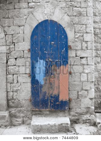 Crumbling Blue Frontdoor.