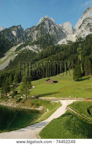 Scenery Dachstein at Lake Gosau