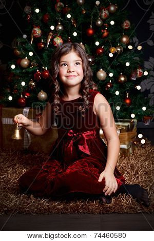 Beautiful Girl At Christmas