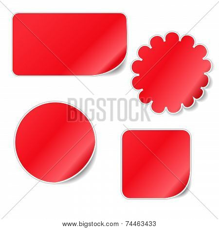 Red Blank Sticky Curled Paper Set