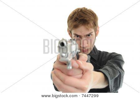 Aiming Pistol Handgun