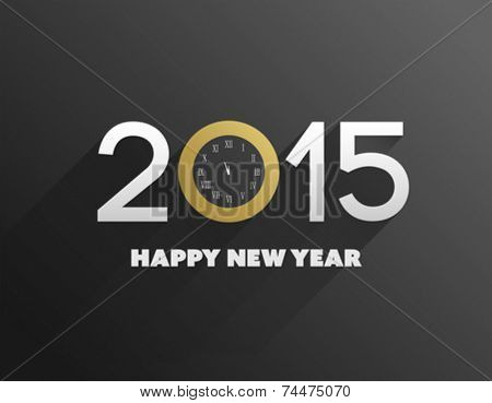 Digitally generated Happy new year 2015 vector on black